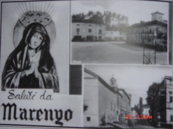 Vue du village italien.