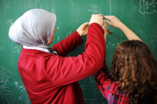 Enseignante hijab voile islamique