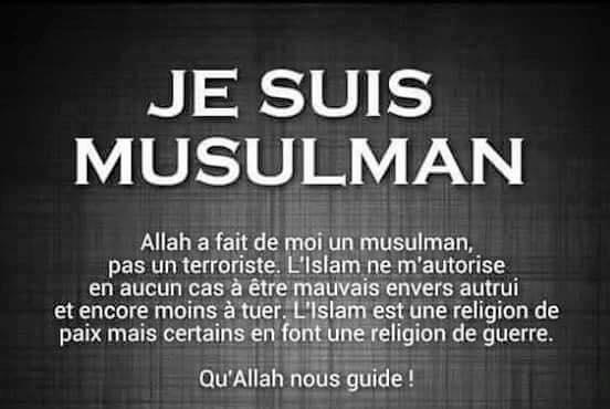 Je suis un musulman